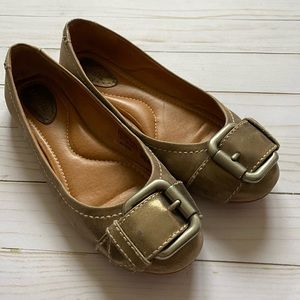 Women's Fossil Slip-on Flats Brushed Gold